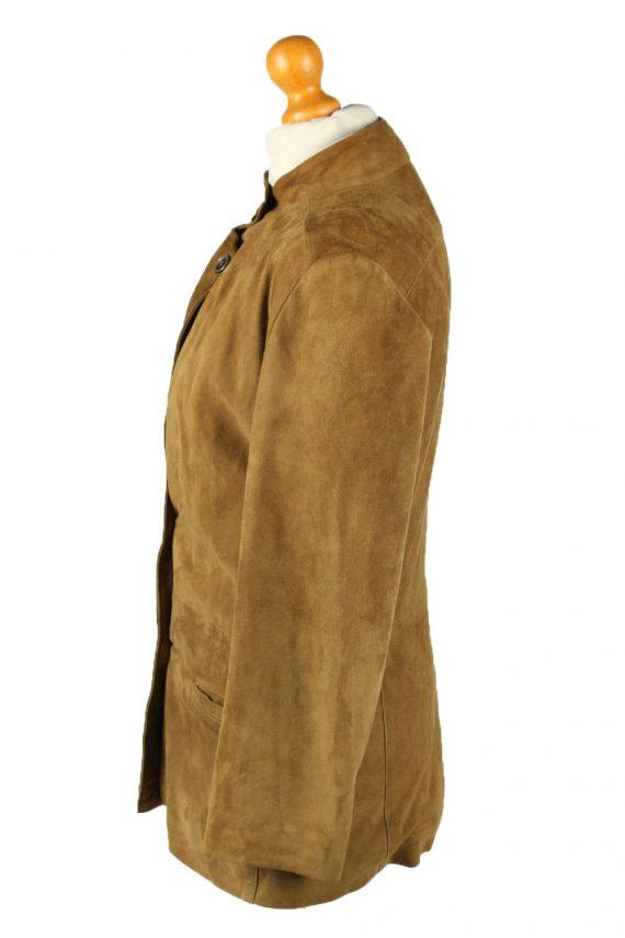Vintage Womens Suede Jacket Coat 42 Brown -C2006-144776