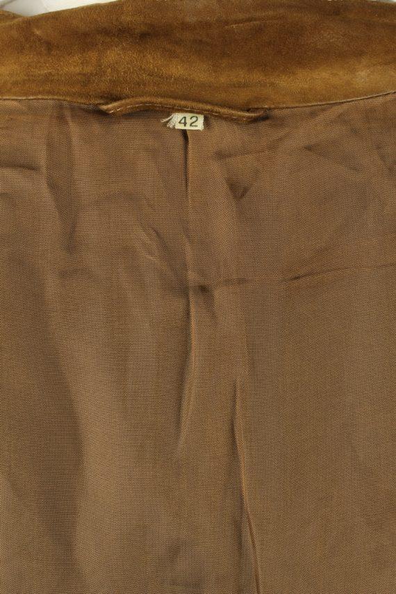 Vintage Womens Suede Jacket Coat 42 Brown -C2006-144778