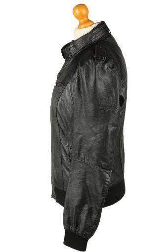 Vintage Womens Olmeda Leather Jacket Coat XL Black -C2009-144788
