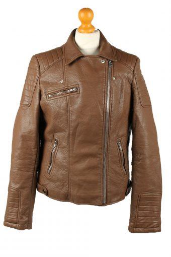 Vintage Womens Fde La Passion Leather Jacket Coat L Brown