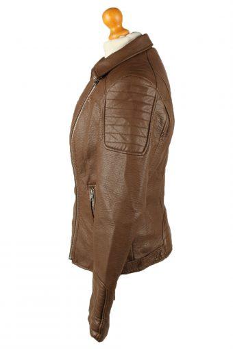 Vintage Womens Fde La Passion Leather Jacket Coat L Brown -C2012-144800