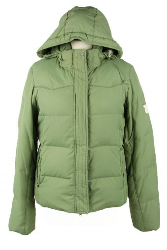 Vintage Womens Champion Puffer Coat Jacket M Green
