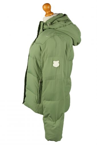 Vintage Womens Champion Puffer Coat Jacket M Green -C2019-144828