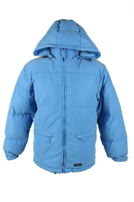 Vintage Mens Champion Puffer Coat Jacket M Blue -C2025-0