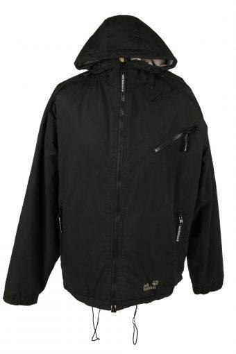 Vintage Unisex Jack Wolfskin Hooded Puffer Coat Jacket L Black