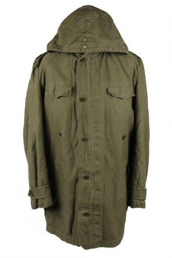 Vintage Mens Schwarz Passau Germany Military Hooded Parka 80s 12 Olive -C2032