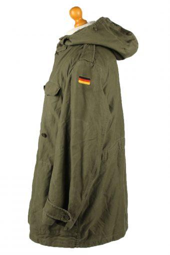 Vintage Mens Schwarz Passau Germany Military Hooded Parka 80s 12 Olive -C2032-144954