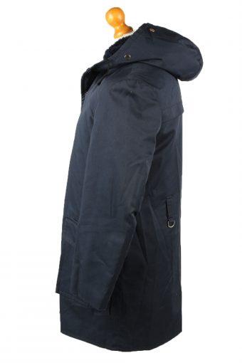 "Vintage Mens Nino Military Hooded Parka Coat 80s Chest 44"" Navy -C2043-144998"