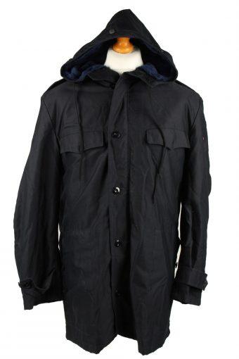 Vintage Mens Scharrer Untergriesbach Military Hooded Parka Coat 80s 52 Navy -C2044