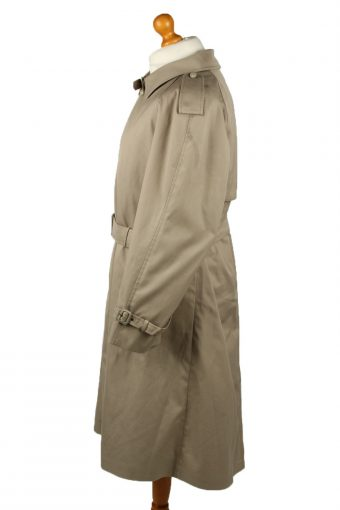 Vintage Mens Lord Full Length Trench Coat 90s 26 Cream -C2045-145006