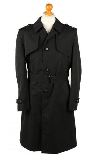 Vintage Mens Rebhan Renommee Full Length Trench Coat 90s 48 Black
