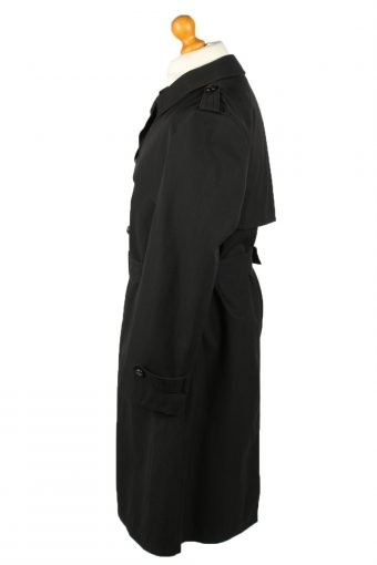 Vintage Mens Rebhan Renommee Full Length Trench Coat 90s 48 Black -C2047-145014