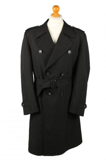 Vintage Mens Rebhan Renommee Full Length Trench Coat 90s 26 Black