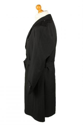Vintage Mens Rebhan Renommee Full Length Trench Coat 90s 26 Black -C2048-145018