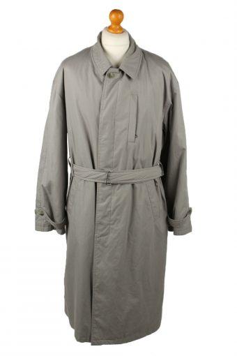 Vintage Mens Full Length Trench Coat 90s 52 Grey
