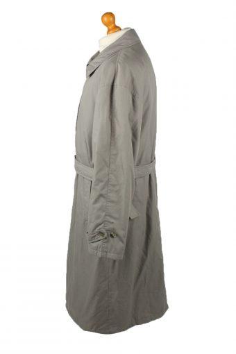 Vintage Mens Full Length Trench Coat 90s 52 Grey -C2051-145030