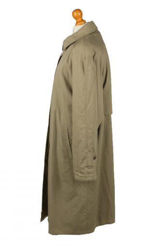 Vintage Womens Damart Full Length Trench Coat 90s 14 Brown -C2053-145038