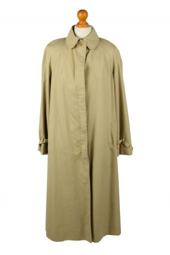 Vintage Womens High Class Full Length Trench Coat 90s 42 Light Brown