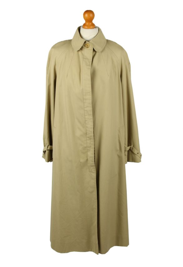 Vintage Womens High Class Full Length Trench Coat 90s 42 Light Brown -C2054-0