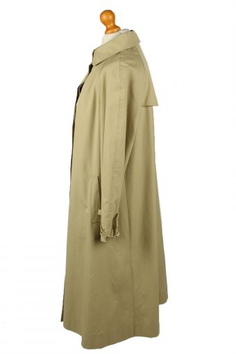 Vintage Womens High Class Full Length Trench Coat 90s 42 Light Brown -C2054-145042