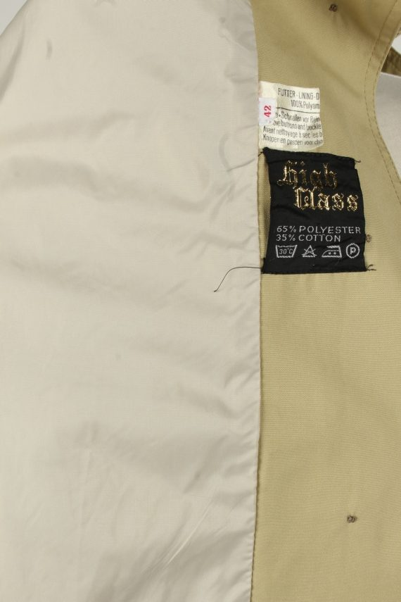 Vintage Womens High Class Full Length Trench Coat 90s 42 Light Brown -C2054-145044