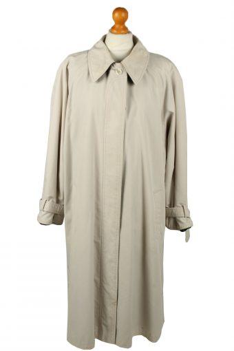 Vintage Womens Full Length Trench Coat 90s 16 Cream