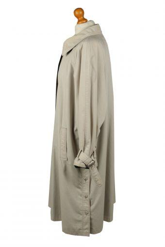Vintage Womens Full Length Trench Coat 90s 16 Cream -C2055-145046