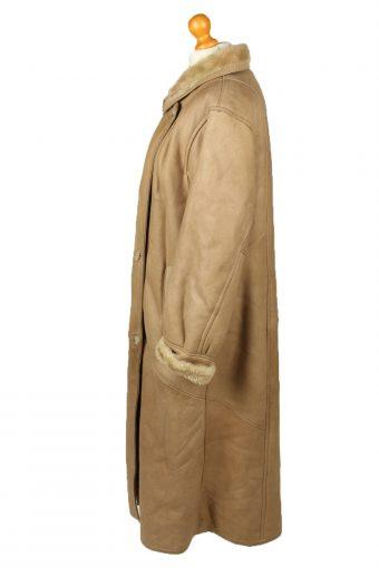 Vintage Womens Sheepskin Leather Coat 80s 40 Brown -C2058-145058