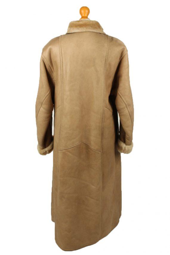Vintage Womens Sheepskin Leather Coat 80s 40 Brown -C2058-145059