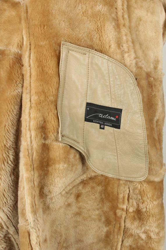 Vintage Womens Sheepskin Leather Coat 80s 40 Brown -C2058-145060