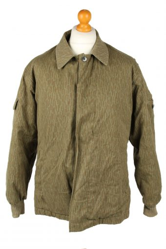 Vintage Mens Army Jacket Coat 80s G48 Olive