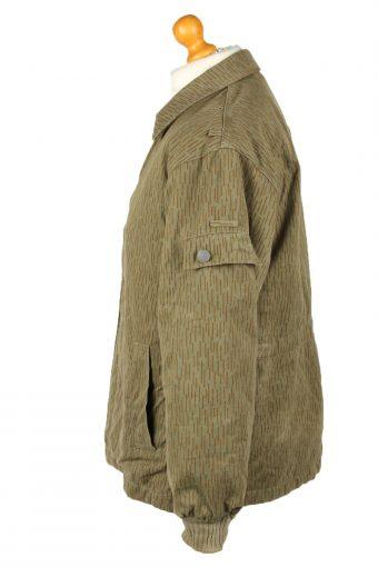 Vintage Mens Army Jacket Coat 80s G48 Olive -C2088-145384