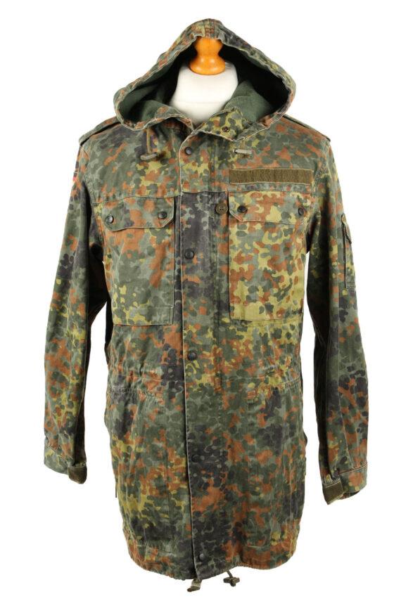 Vintage Mens German Army Jacket Coat 80s 7 Olive -C2091-0