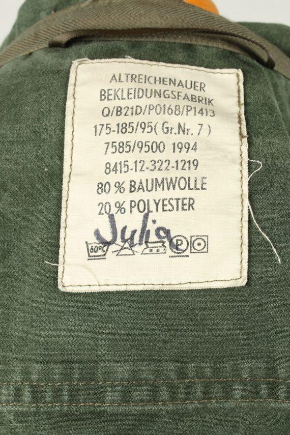 Vintage Mens German Army Jacket Coat 80s 7 Olive -C2091-145398