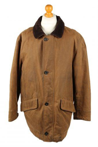 Vintage MC Neal Mens Wax Coat Jacket 80s 40 Brown