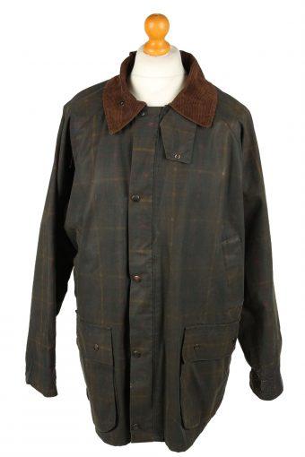 Vintage Hi Divers Mens Wax Coat Jacket 80s XL Dark Green