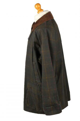 Vintage Hi Divers Mens Wax Coat Jacket 80s XL Dark Green -C2099-145428