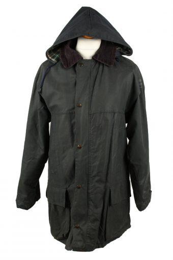 Vintage Anartex Mens Wax Coat Jacket 80s M Black