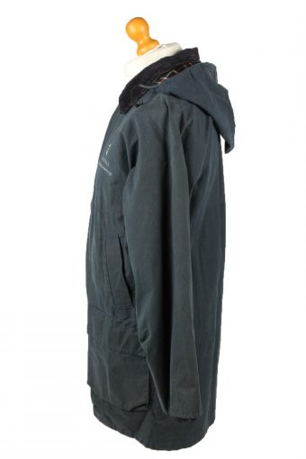 Vintage Hunter Mens Wax Coat Jacket 80s L Navy -C2105-145452
