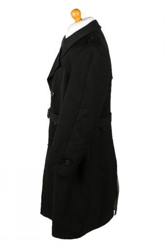 "Vintage Mens Overcoat 90s Chest 46"" Black -C2107-145463"