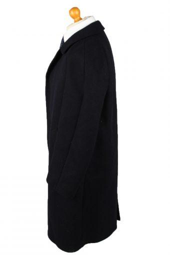 Vintage Glendale Mens Wool Overcoat 90s 27 Navy -C2109-145473