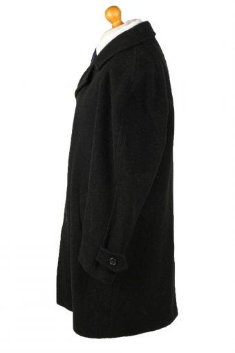 Vintage Canda Mens Wool Overcoat 90s 50 Black -C2110-145478