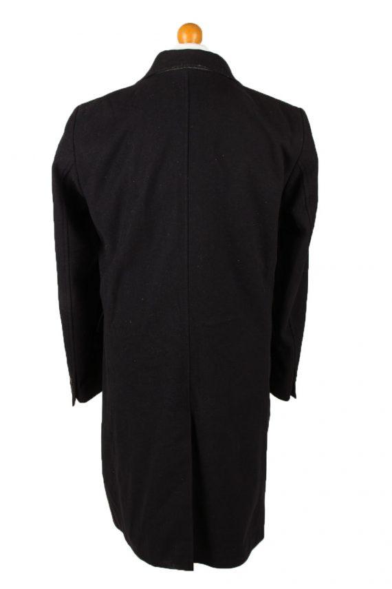 Vintage Bijenkorf Mens Overcoat 90s 50 Black -C2112-145489