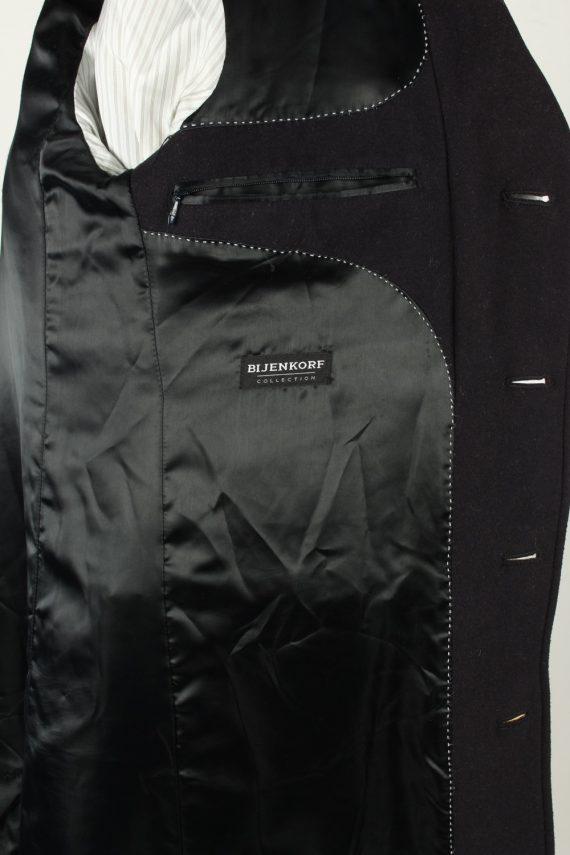 Vintage Bijenkorf Mens Overcoat 90s 50 Black -C2112-145490