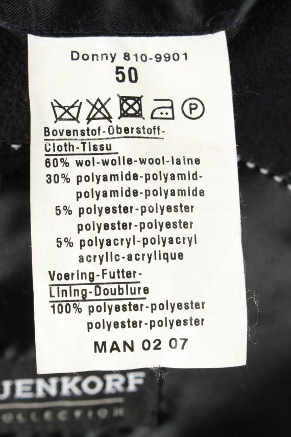 Vintage Bijenkorf Mens Overcoat 90s 50 Black -C2112-145491