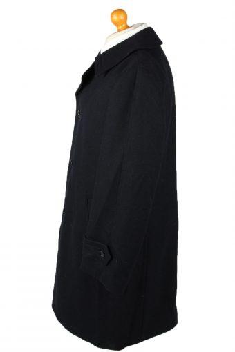 "Vintage Mens Overcoat 90s Chest 46"" Navy -C2113-145493"
