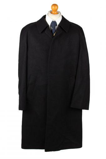 Vintage Top Aachen Mens Wool Overcoat 90s 26 Black