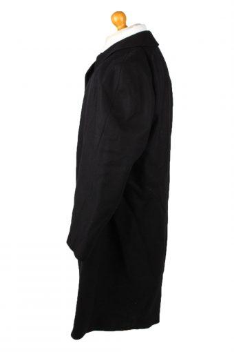 Vintage Top Aachen Mens Wool Overcoat 90s 26 Black -C2117-145513