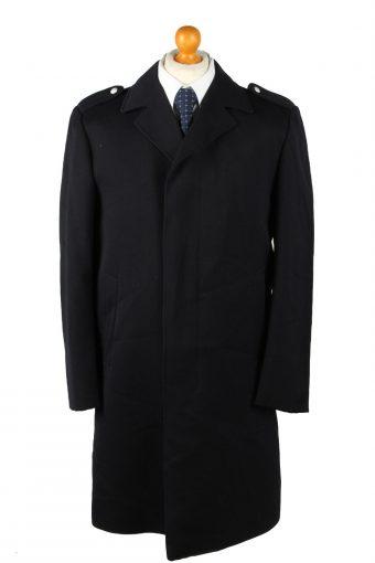 Vintage Mens Overcoat 90s 50 Navy
