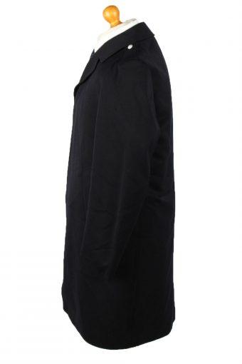 Vintage Mens Overcoat 90s 50 Navy -C2118-145518